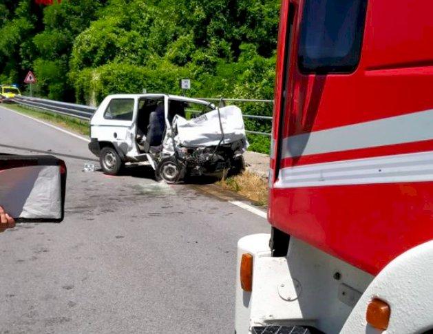 Valle Stura, incidente sulla statale: c'è un morto