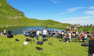 Un concerto al lago delle Scalette di Frabosa Sottana