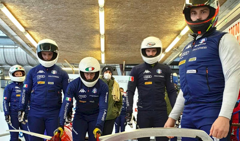 Sport invernali, il team azzurro di bob impegnato a Mondovì dal 19 al 25 luglio con otto atleti