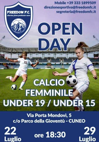 """Calcio Femminile, il """"Freedom F.C."""" organizza un open day"""