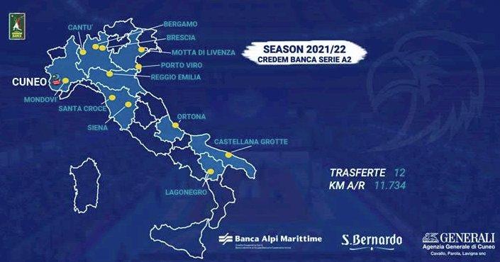 Pallavolo maschile, il campionato di Cuneo partirà da Cantù il 10 ottobre