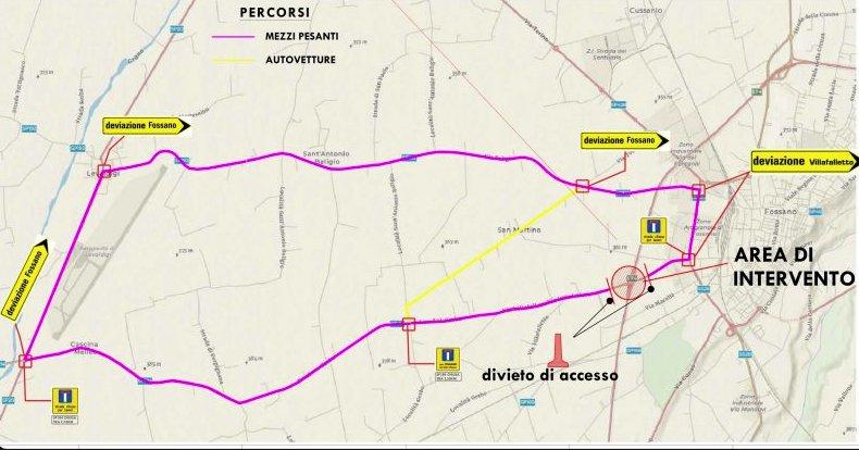 """Tangenziale di Fossano, nel fine settimana si demolisce la campata del viadotto """"Villafalletto"""""""