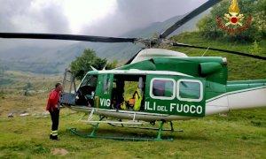 Due donne perdono l'orientamento durante un'escursione, intervento dei Vigili del Fuoco in valle Po