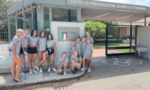 Cuneoginnastica in ritiro al Gym Campus della Federazione