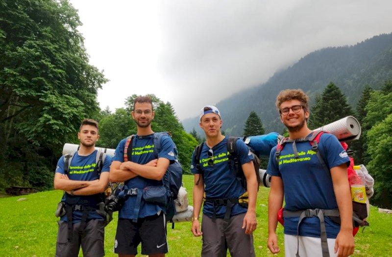 """Dall'idea di 4 giovani il """"Cammino delle Alpi del Mediterraneo"""", 78 chilometri tra Chiusa di Pesio e Sanremo"""