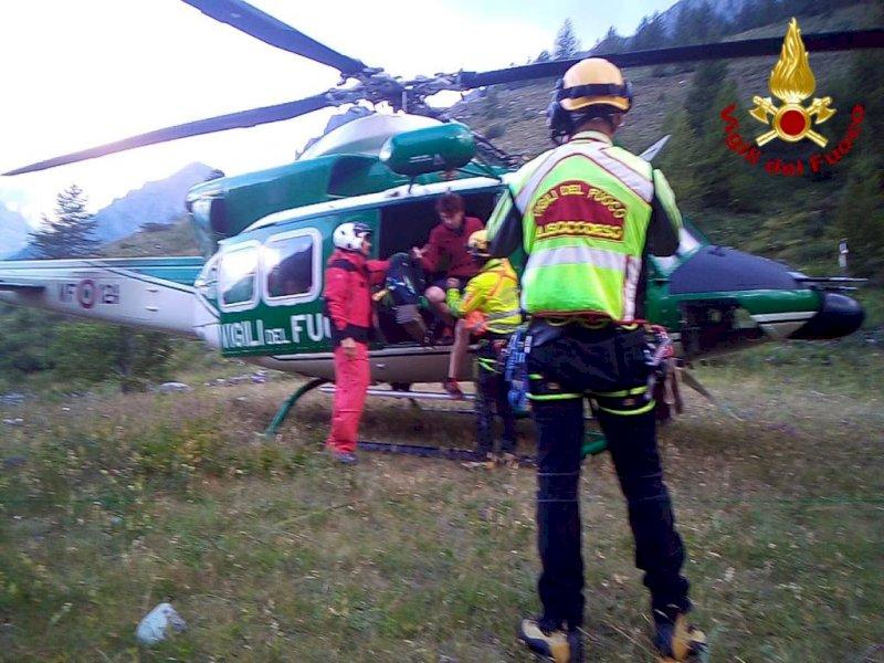 Recuperato dai vigili del fuoco un escursionista in difficoltà sulla Tête de l'Homme