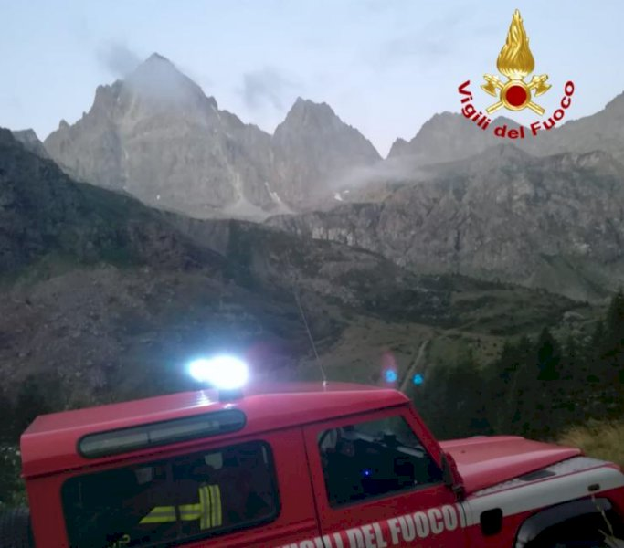 Due persone in difficoltà sul Monviso, intervento dei Vigili del Fuoco