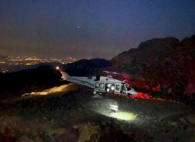 Elisoccorso, collaudata la nuova piazzola di atterraggio notturno al rifugio Quintino Sella al Monviso