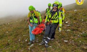 Il Soccorso Alpino recupera un 55enne, vittima di una caduta in valle Grana