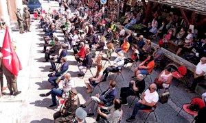 L'associazione internazionale Regina Elena riunita per la festa a Sant'Anna di Valdieri