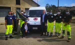 Un nuovo veicolo per la squadra di Protezione civile degli alpini dell'Alta Langa