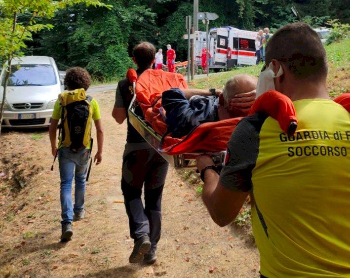 Borgo, cade mentre lavora in un bosco e si fa male a una gamba: 60enne recuperato dal Soccorso Alpino