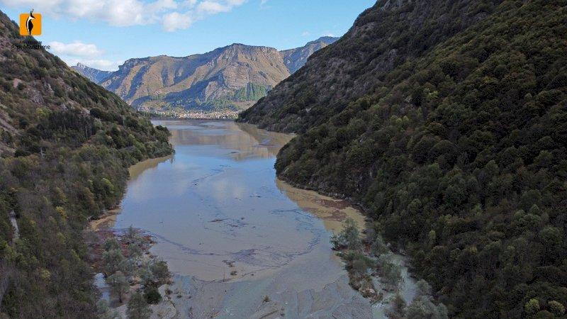 La diga della Piastra il 3 ottobre 2020 - foto A. Rivelli