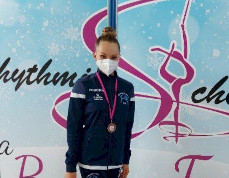 Cuneoginnastica: bronzo per Beatrice Mandrile al campionato di specialità Gold di ginnastica ritmica