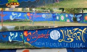 """Rifreddo, al parco giochi """"Gesia Veja un murale da 30 metri sul tema delle """"Streghe"""""""