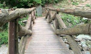 Chiuso il ponte superiore del Saut in alta valle Pesio