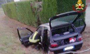 Un ferito nello scontro tra due auto a Scarnafigi