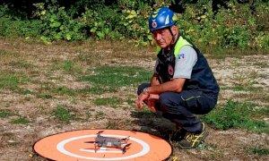 I droni della Protezione Civile di Cuneo protagonisti a