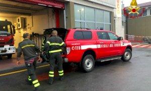 I Vigili del Fuoco di Cuneo al lavoro nell'Alessandrino messo in ginocchio dal maltempo