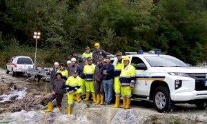 Esercitazione in valle Ellero per la Protezione Civile dell'ANA di Mondovì