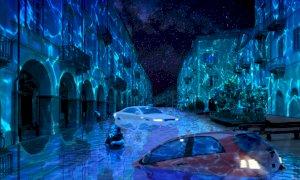 Via Roma sarà invasa da un fiume in piena (per riflettere sullo scioglimento dei ghiacciai)