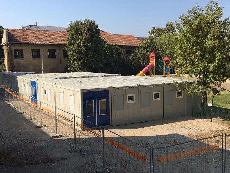 """Quattro moduli prefabbricati per il liceo Artistico """"Gallizio"""" di Alba"""