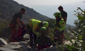 Sanfront, scalatore si procura una frattura arrampicando sulla falesia della Placconata del Serpente