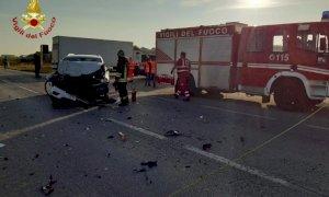 Frontale tra due auto a Marene, due feriti