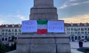Cuneo, giovedì sera i 'no pass' tornano in piazza in solidarietà con i manifestanti di Trieste