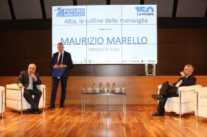Alba: il Sindaco Maurizio Marello alla festa per i 150 anni del quotidiano La Stampa