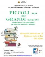 Piccoli libri per grandi emozioni: incontro in biblioteca a Bra
