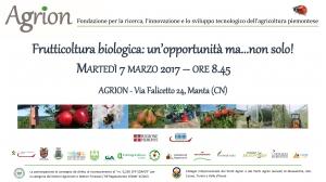 """""""Frutticoltura bio in Piemonte – un'opportunità ma non solo!"""""""