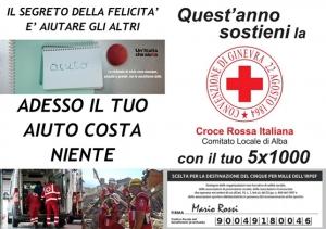 Anche quest'anno si può donare il 5x1000 alla Croce Rossa Italiana