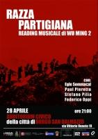 """""""Razza partigiana"""", reading musicale di Wu Ming 2"""