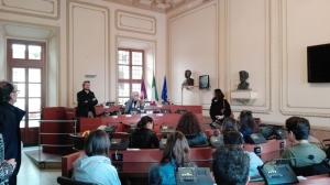 Bra: studenti di Gualdo Tadino in visita in Municipio