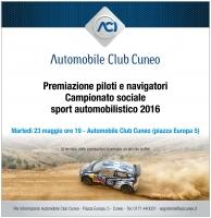 All'Aci di Cuneo si premiano i piloti e i navigatori del campionato provinciale 2016