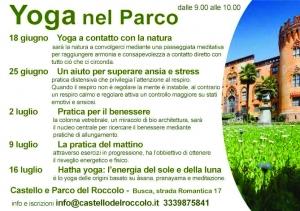 Yoga al Parco del Castello del Roccolo