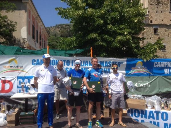 Il podio maschile con Massimo Galliano sul gradino più alto