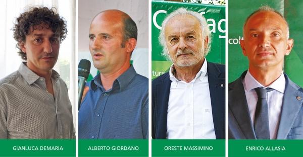 I quattro rappresentanti di Confagricoltura Cuneo nominati presidenti delle sezioni regionali