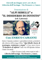 Incontro con Enrico Camanni alla Libreria dell'Acciuga