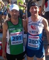 Massimo Galliano (Roata Chiusani) e Moreno Dalmasso (Podistica Buschese) protagonisti alla Val di Fassa Running