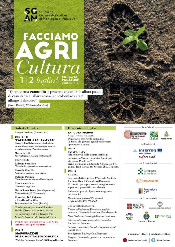 """Convegno internazionale """"FACCIAMO AGRI-CULTURA - Progetti di collaborazione e inclusione in ambito agricolo: la montagna cuneese a confronto con l'America latina"""""""