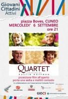 """Proiezione del film """"Quartet"""" in piazza Boves"""