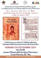 Gli antichi statuti raccontano la Bra del 1300