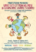 Legge sulla cittadinanza a chi nasce, studia e vive in Italia: manifestazione a Cuneo sabato 21 ottobre